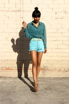 aquamarine Retro shorts - teal Lush blouse