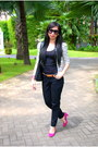 Black-nine-west-bag-white-bangkok-cardigan-black-bench-pants