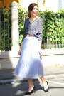 Heather-gray-oasap-sweater-silver-oasap-skirt