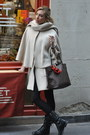 Black-zara-boots-gray-louis-vuitton-bag-off-white-h-m-cape