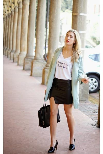 ivory She She Bon Bon t-shirt - light blue sammydress coat