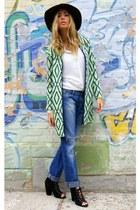 green chicnova cardigan - blue Fornarina jeans