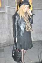Zara jacket - Bimba y Lola dress - vintage hat - bologna tights