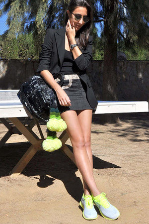 black Zara blazer - black Givenchy bag - brown Ray Ban sunglasses