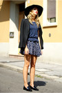 Navy-yes-style-dress-black-h-m-hat-black-zara-blazer-black-office-loafers