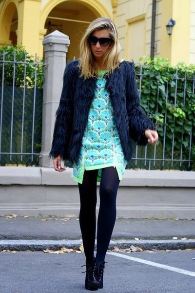 black zeroUV sunglasses - aquamarine mombasarose dress