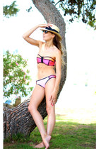 hot pink Triangl swimwear