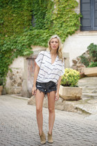 romwe shirt - romwe shorts