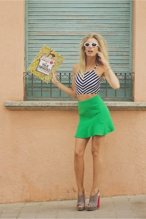 green Zara skirt