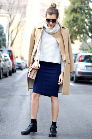navy the city rack skirt