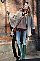 brown bought in morroco bag - dark green Aigle boots - navy REPLAY jeans