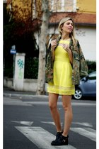 yellow WalG dress