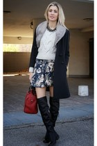 black my dressroom boots - gray Sheinside skirt