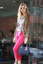 christian dior bag - Mango coat - H&M shirt - Valentino sunglasses