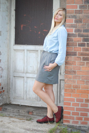 heather gray whyred skirt