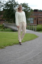 eggshell angora knit Stine Goya cardigan - light yellow Stine Goya pants