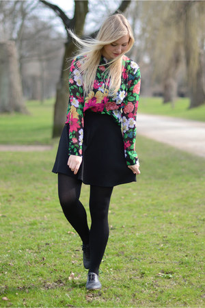 green Monki shirt - black Dororthy Perkins skirt