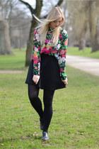 green Monki shirt - black Dororthy Perkins skirt
