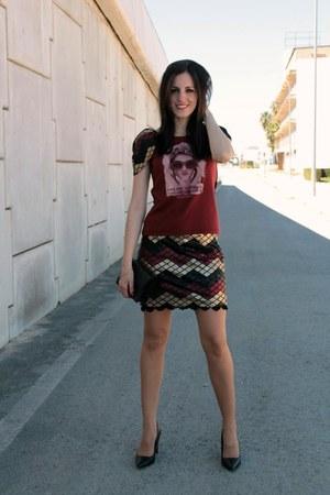 black Mango bag - El Armario de Lulu shirt - El Armario de Lulu skirt