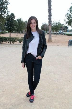 Zara jeans - black imperio clandestino jacket - bubble gum The Hip Tee t-shirt