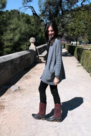 black Mango jeans - Catarina Martins boots - Mango bag