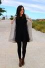 Dark-brown-stradivarius-boots-black-celop-punto-dress-tan-vila-coat