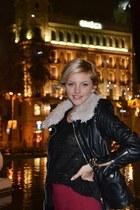 Zara jacket - Stradivarius tights - Shana bracelet - Shana skirt