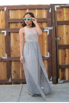 heather gray maxi dress Kimchi Blue dress