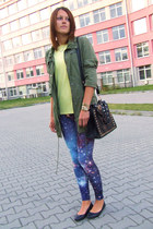 Vila jacket - Brzozowska Fashion leggings - OASAP bag - Secondhand t-shirt