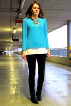 EdiBazzar watch - Market boots - second-hand sweater - H&M pants