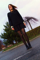 Iloko bracelet - Market boots - second-hand sweater - conte tights - F&F skirt