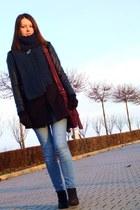 F&F bag - Market boots - Stradivarius coat - Vila jeans - second-hand scarf