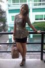 Light-brown-xara-dress-dark-khaki-chloe-bag