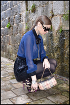 Bershka skirt - new look shirt - Burberry bag - Prada glasses - D&G accessories