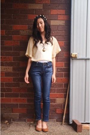 mums borrowed top - japanese brand jeans