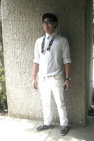 H&M shirt - Topman pants - Polo tie - bulgari belt