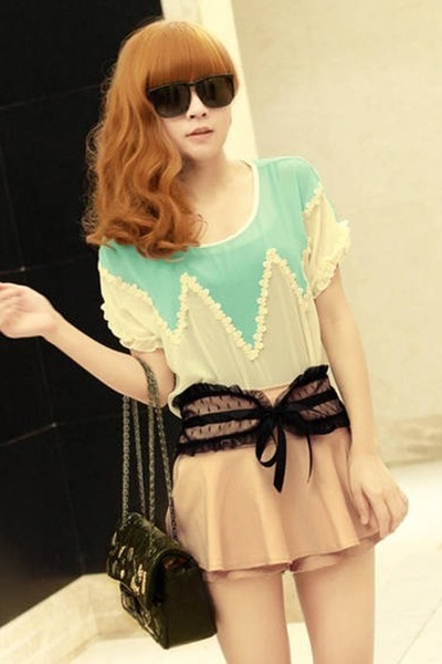 chiffon lace 7e-fashion dress