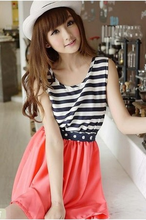 striped dress 7e-fashion dress