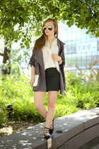 charcoal gray style moi jacket