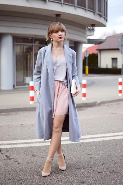 light pink OASAP skirt