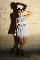 PacSun dress - PacSun glasses - Charlotte Russe wedges