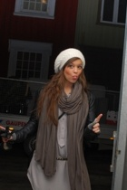 Tiger of Sweden hat - AMERICAN VINTAGE scarf - Zara blouse - H&M jacket