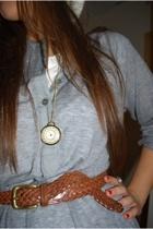 Filippa K dress - vintage necklace - vintage belt