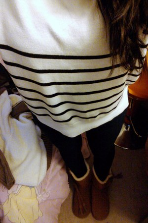 Forever 21 sweater - Nine West boots - bench jeans