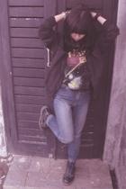 H&M jacket - Magic Happens shirt - DKNY jeans - Dr Martens boots