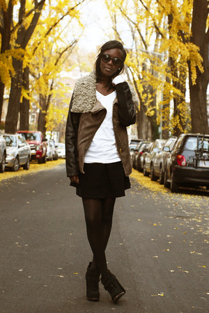 Dolce Vita boots - asoscom shirt - corduroy American Apparel skirt