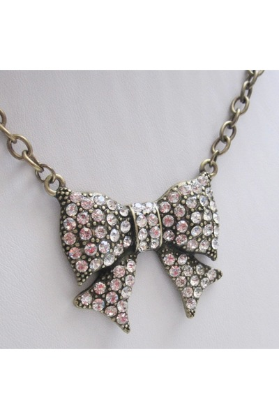 bow necklace necklace