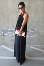 Black-zara-dress-coral-forever-21-purse
