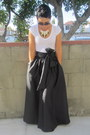 Black-diy-skirt-white-forever-21-t-shirt