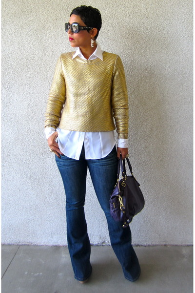 a785d4002d H M sweater - Forever 21 jeans - DIY shirt - coach bag